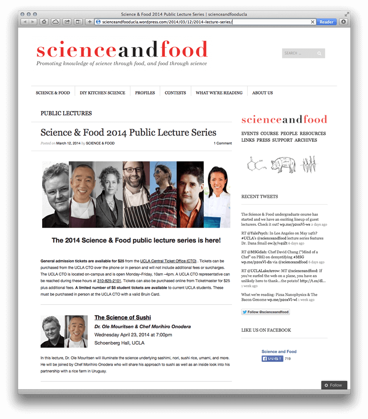 Science and Food